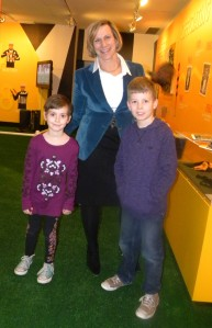 My Kids got to meet Laurie Tisch, co-owner of the NY Giants