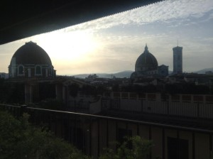 My breakfast view of Florence from the Grand Hotel Baglioni