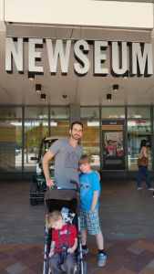 Newseum 1 with the boys